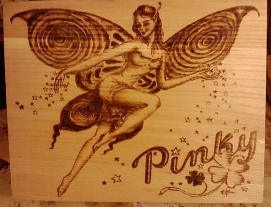 cuadro pirograbado  plancha de madera de,chopo,marco pino o avellano pirograbado