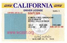 Template California Drivers License Editable Photoshop File D