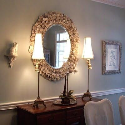 17 best images about diy mirrors on pinterest plastic Diy home decor with shells