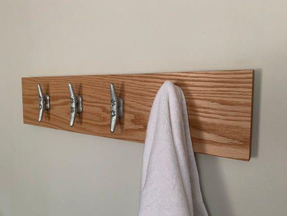 Towel Rack Nautical Cleats Towel Hooks Coastal Decor Bathroom Towel Rack Entryway Rack Nautical Decor Coat Hooks Cleats Hooks Coastal Decor Towel Hooks Entryway Rack