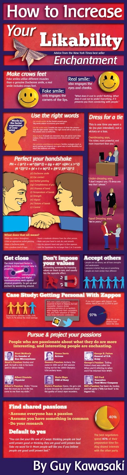 Now that I've spent some time with Guy Kawasaki, I can say he walks the walk.: Likability Infographic, Marketing, Social Media, Enchantment Infographic, Increase, Job Interview, Infographics, Business
