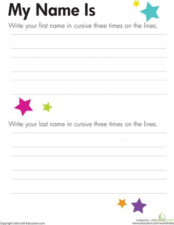 Cursive Worksheets Name: 17 Best images about Handwriting Cursive on Pinterest    ,