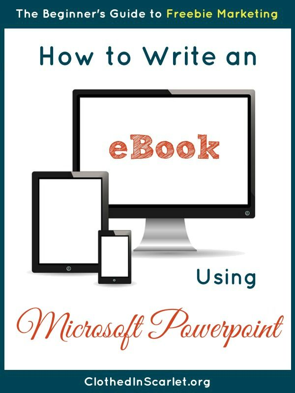 A step by step tutorial on how to write an eBook using Microsoft PowerPoint.