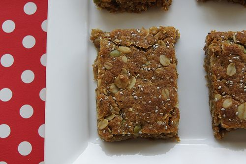 oat and seed lunch box slice