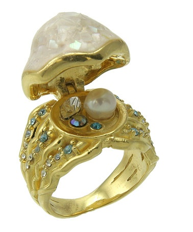 Take a look at this Gold Underwater Treasure Ring by Disney Couture Jewelry on #zulily today!