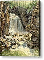 Beartooth Falls Canvas Print by Paul Krapf