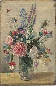 ... arrangement of old english cottage flowers flower: George Washington, Artists, Art Paintings, Gardens Bunch, Art Flowersgardensnaur, Posts, Paintingstil Life, Flore Rosa-Choqu, George Lambert