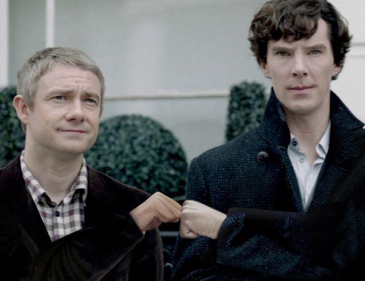 The standard Baker Street 'Mission Successful Fistbump'.