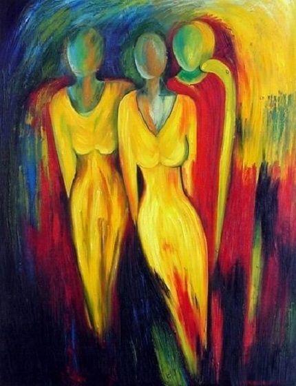 Peinture moderne contemporaine tableau pinterest - Tableau d art moderne ...