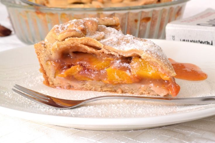 "A delectable, vegan ""tibetan"" peach pie with homemade crust #olive oile #peaches #processedsugarfree"