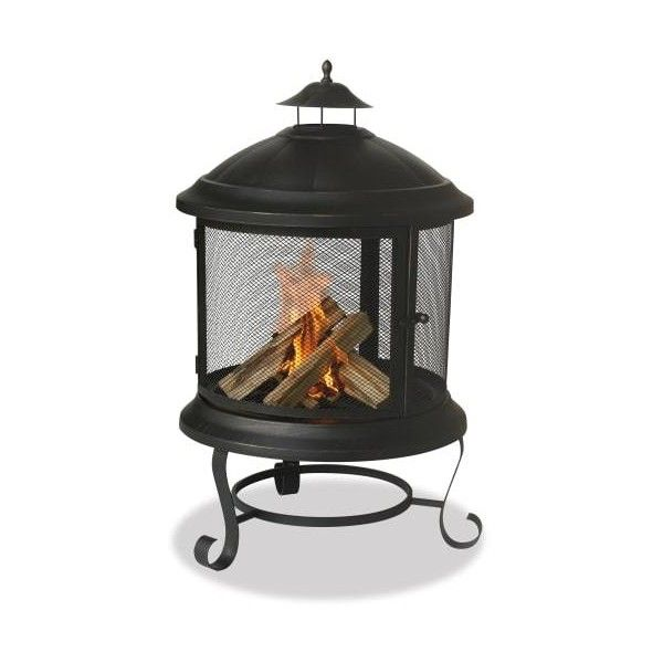 Blue Rhino WAF901SP Round Bronze Firehouse N/A Outdoor Living Free ($113) ❤ liked on Polyvore featuring home, outdoors, outdoor decor, firepits, free standing, outdoor living, outside wood burning heaters, fire heaters, blue rhino and outside garden decor