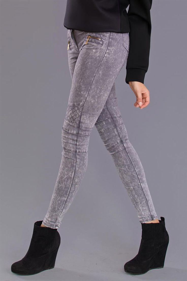 REDIAL Legíny - LIGHT GREY http://www.cosmopolitus.com/damske-obleceni-damske-kalhoty-c-21_6245_5959.html #kalhoty #zeny #legíny #dzíny #teplaky #elegantní #sportovní #rezane