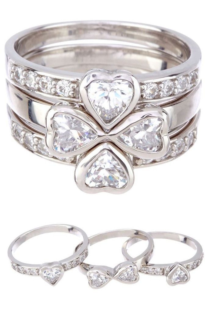 4 heart = my life! Maybe each band could have kids birthstone. Be cool when they get married each would have part of US