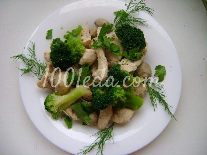 Курица на пару с грибами и брокколи: рецепт с пошаговым фото
