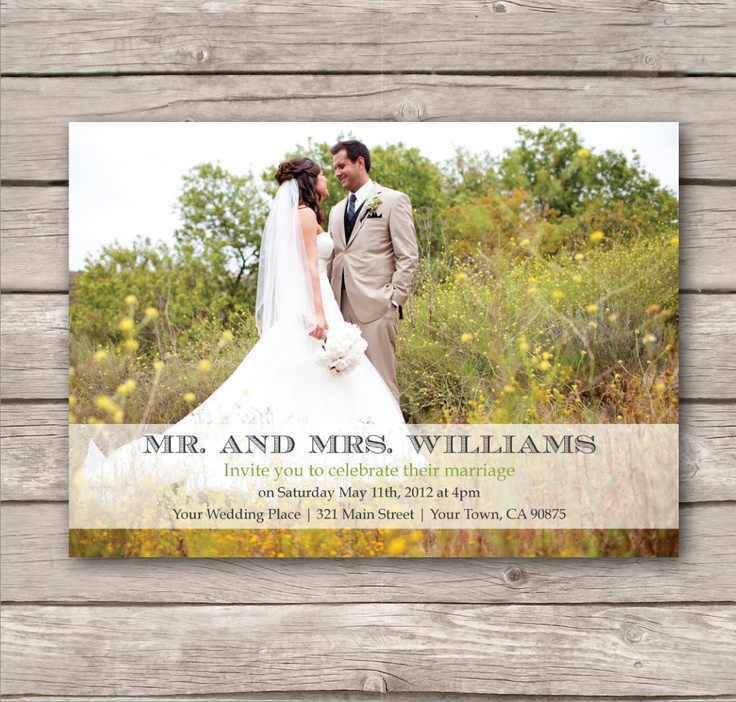 ... Invitations. PDF. Modern design. print at home. just married. eloped