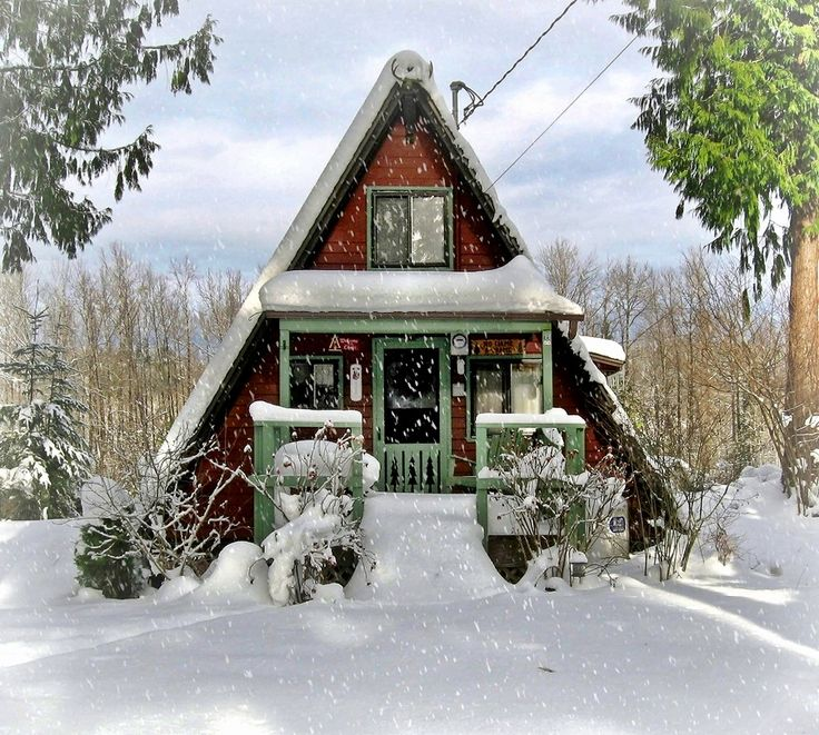 comfy-cabin-1: A Fram Cabins, Dreams Houses, Winter Cabin, Comfy Cabins, Kept On, Tiny Houses, Frames Cabins, A Frames, Tiny Cabins