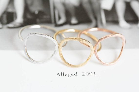 Open round ring/unique ring/round engagement by LETTERSEARRING