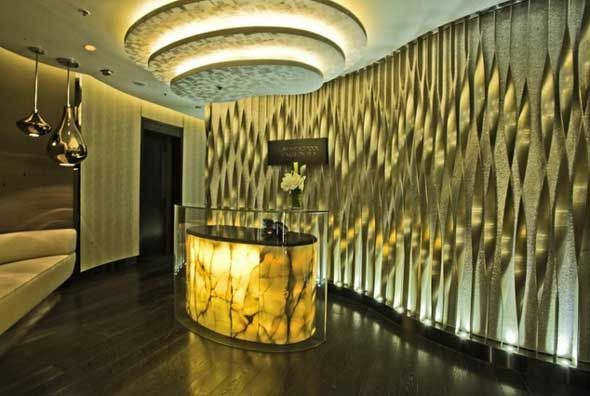 ESPA at the Instabul - Feature Wall - Screen - Reception
