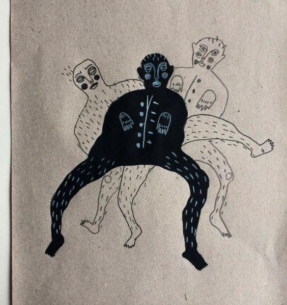 'dansende demonen'  inspired by Karolina Koryl drawing by amber carpentier