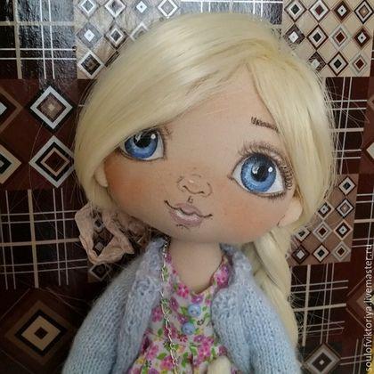 Collection handmade dolls.  Fair Masters - handmade.  Buy Margorita.  Collectible handmade doll.  Handmade.  Blue