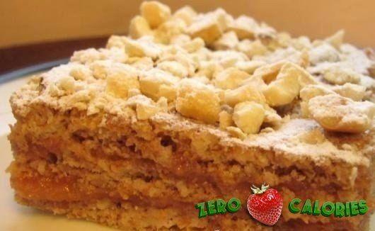 Торт диетический на 100грамм - 153.7 ккал, Б/Ж/У - 6.84/3.64/24.43