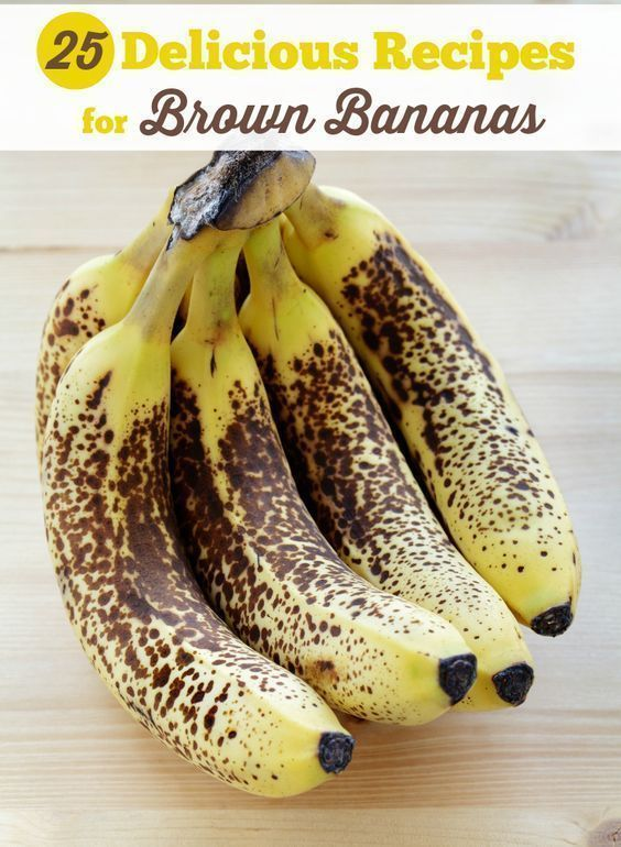 25 Delicious Recipes for Brown Bananas - way more ways than just banana bread! #bananas #bananabread #bananarecipes