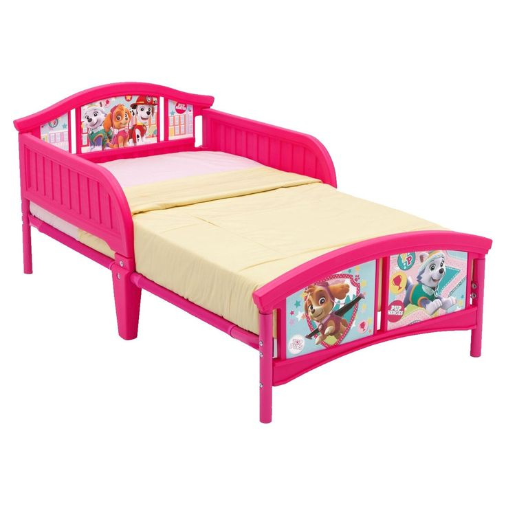 Delta Children PAW Patrol, Skye & Everest Plastic Toddler Bed