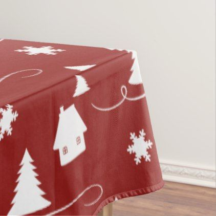 Cozy Winter Wonderland Pattern Holiday Tablecloth - patterns pattern special unique design gift idea diy