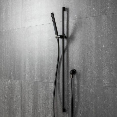 The Mare Mare Handshower on Rail in Matte Black from Italian design house Fantini represents a new era in shower design. The long curved lines with a distinguishing soft body shape of the piece is designed to compliment the Mare Tapware Collection.