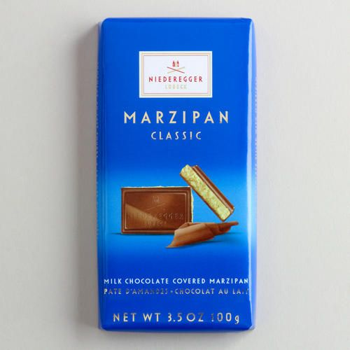 One of my favorite discoveries at WorldMarket: Niederegger Marzipan Milk Chocolate Bar - The best!