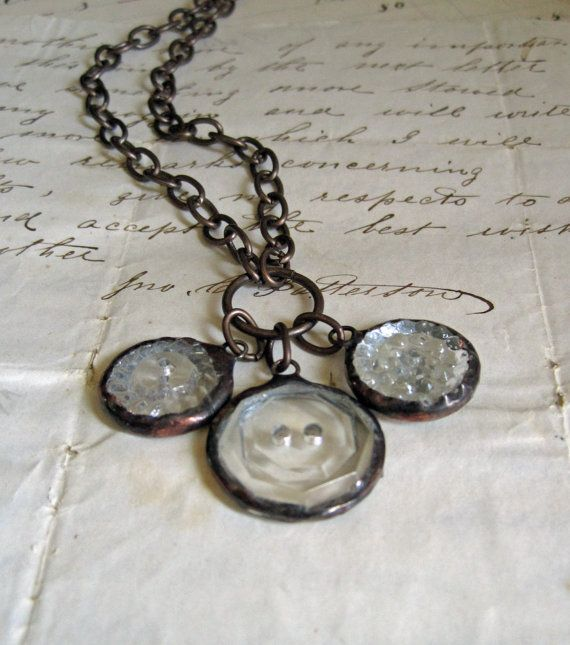 50 best button jewellery images on Pinterest