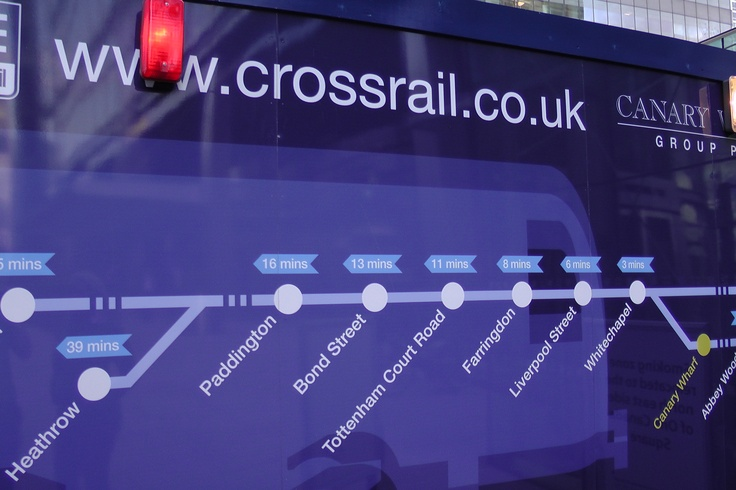 www.girlbanker.com, Crossrail Project in Canary Wharf