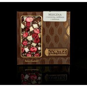Czekolada Cortez z jabłkiem, żurawiną i imbirem #czekolada #cortez #chocolate #milk #apple #ginger #cranberry