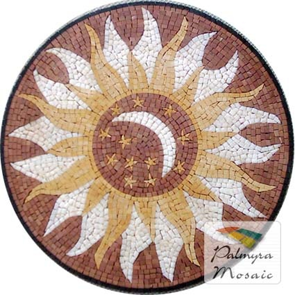 MD014 Marble Mosaic Medallion