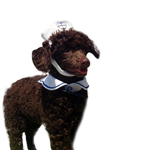 Voberry® Cat Dog Sailor Costume Hat Navy Tie ** More details can be found by clicking on the image.