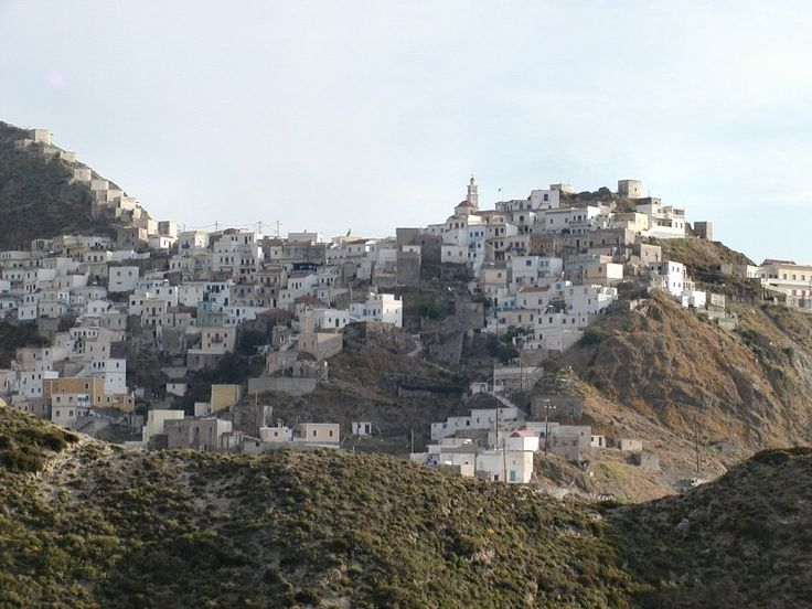 Olymbos village. Karpathos, Greece.