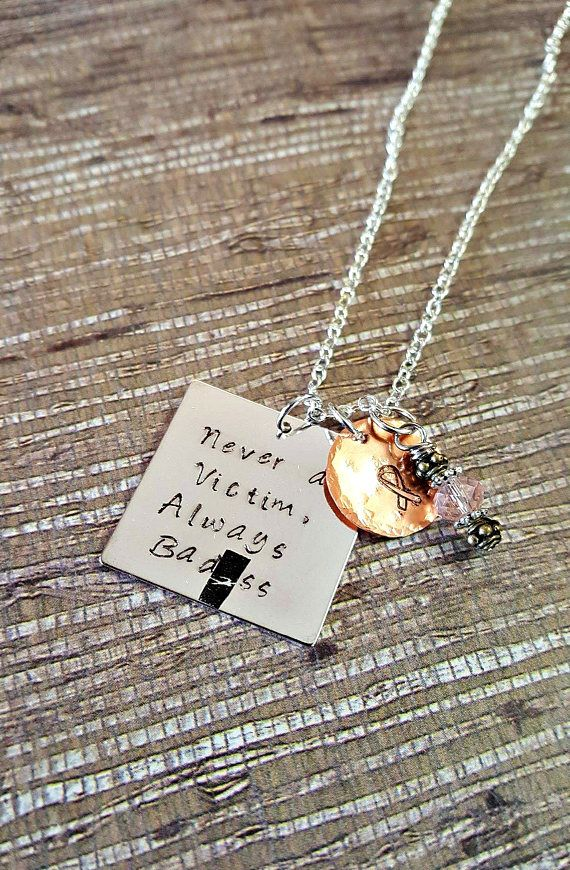 Hey, I found this really awesome Etsy listing at https://www.etsy.com/listing/504004564/never-a-victim-always-badss-hand-stamped