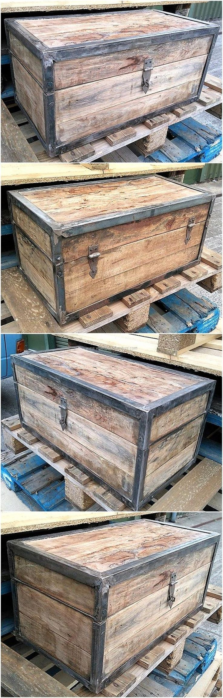 25 best ideas about pallet chest on pinterest wooden for Pallet furniture projects