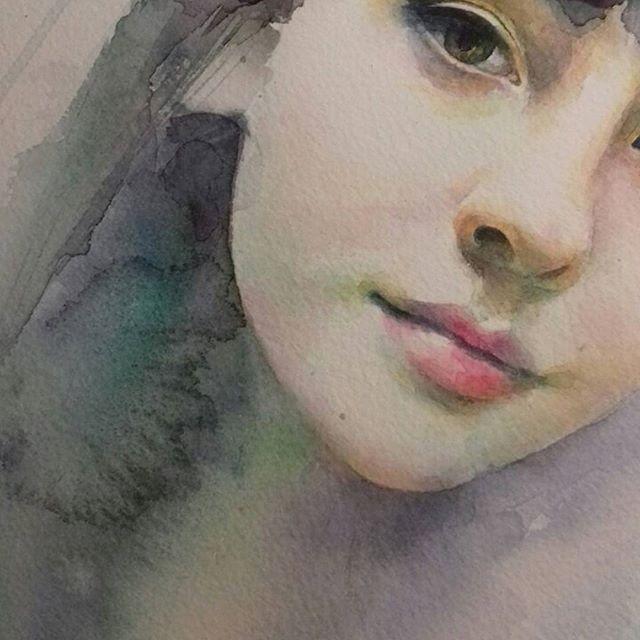 Watercolorist: @@alisakalinova  #waterblog #акварель #aquarelle #painting #drawing #art #artist #artwork #painting #illustration #watercolor #aquarela