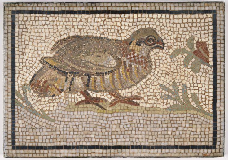 Mosaic of a Bird in a Vine by an unknown Roman artist, 3rd century-5th century…