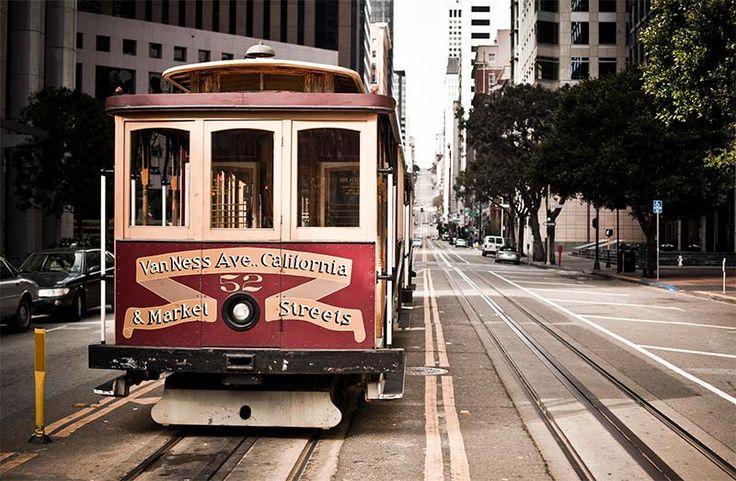 Cable car sur la ligne California Street
