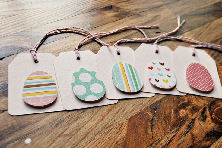 easter tags handmade easter gift tags easter egg by oscarandollie, $10.65
