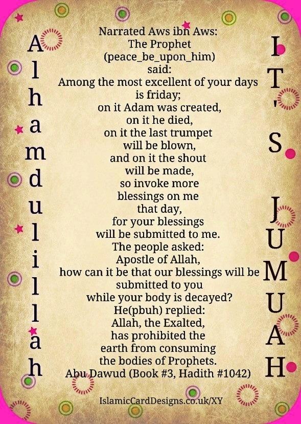 Alhamdulillah, it's Jumuah
