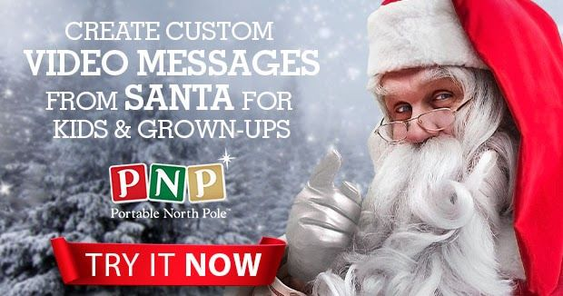 Make Christmas more magical with a Santa video message! Save 20% off using the discount code in the link.