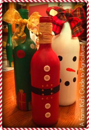 Wine bottle #DIY for #Christmas