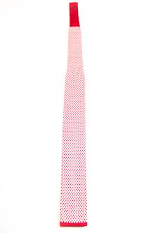 Square knit silk tie squared