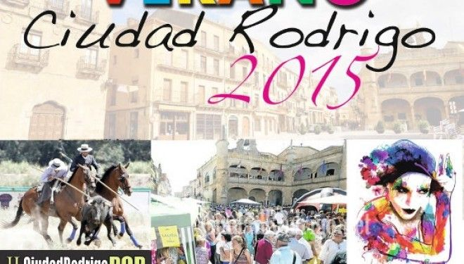 Programa de las Fiestas de Verano 2015 de Ciudad Rodrigo, salamanca.