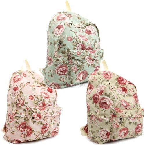 Floral Bags Backpacks Bookbags for Women Girls Flower Design Backpack School Bag #Colatree #Backpack