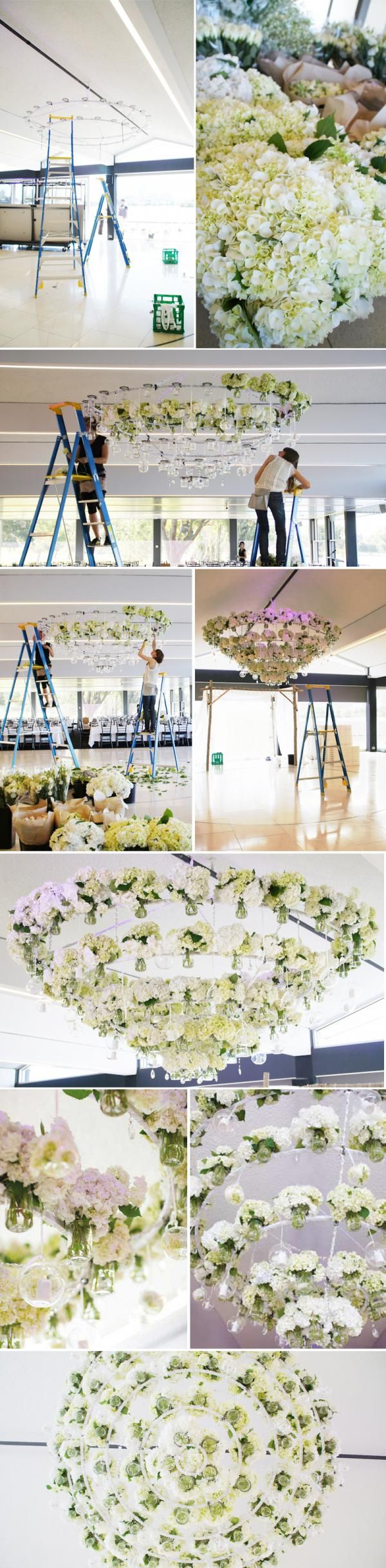 Floral chandelier created by The Style Co. - swoon