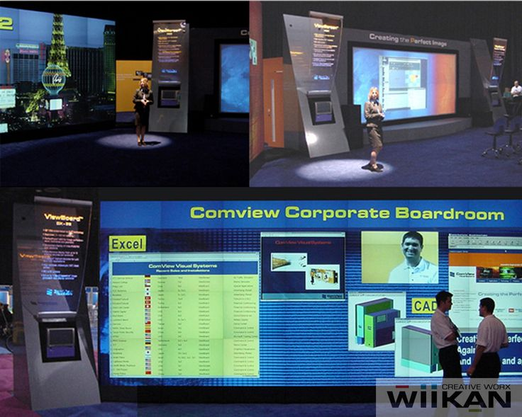 ComView Visual Solutions - Custom trade-show booth at INFOCOMM